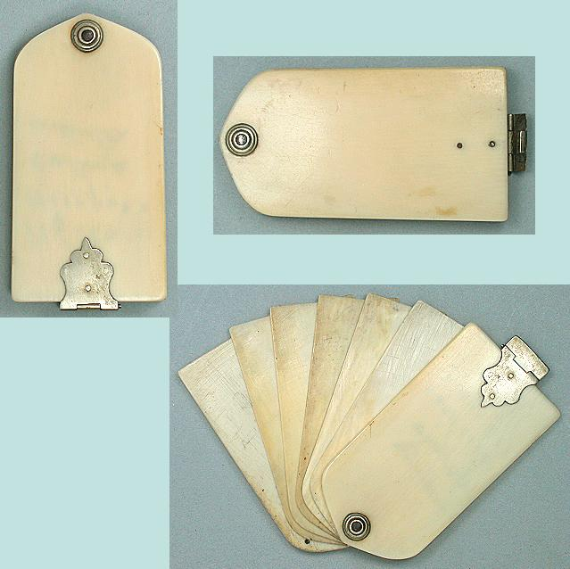 Antique Ivory Aide Memoir / Notebook * Circa 1850