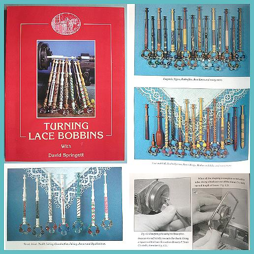 Turning Lace Bobbins by David Springett * Signed by Author