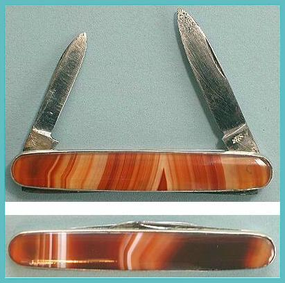 Antique Red Agate Penknife * C1880