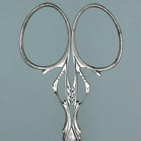 Antique Cut Steel Embroidery Scissors * Circa 1890