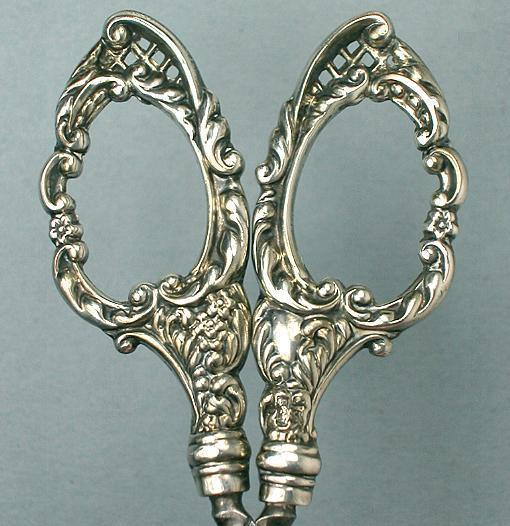 Antique English Sterling Silver Embroidery Scissors * 1901 Hallm