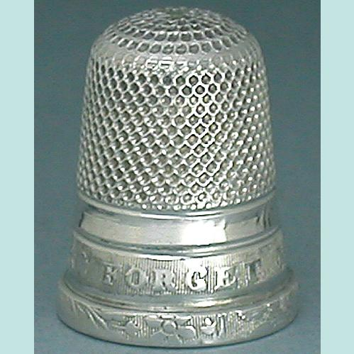 "Antique Sterling ""Forget Me Not"" Child's Thimble * Circa 1860"