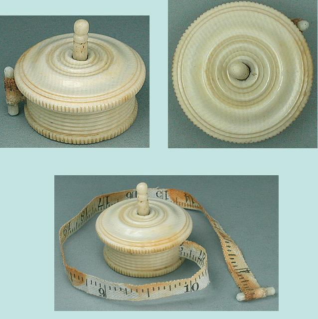 Antique Carved Ivory Tape Measure * C1840