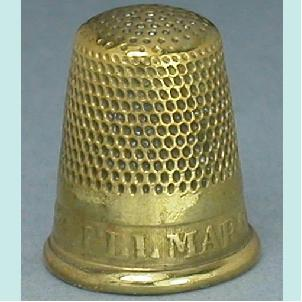 Rare Antique Brass Motto Thimble * I'll Marry You * C1880