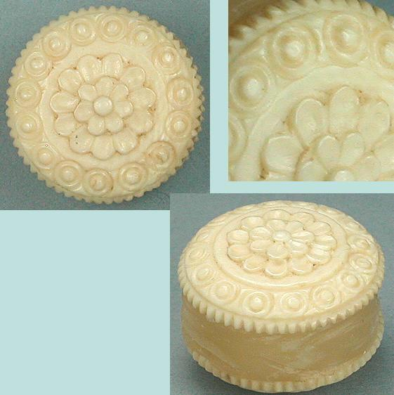 Antique Carved Ivory Thread Waxer * C1820
